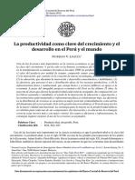Productividad en El Perú, BCRP Ree-31-Loayza