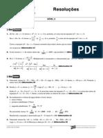 Matemática - Curso Anglo - n2 aulas13a15 Resoluções