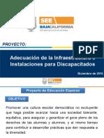 Presentación Educación Especial Infraestructura y Equipamiento
