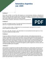 OMA - XVIII Olimpíada Matemática Argentina. Certamen Nacional (7)