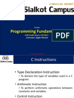C++ Instructions