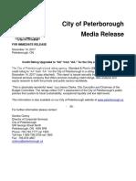 2017 City of Peterborough Credit Rating