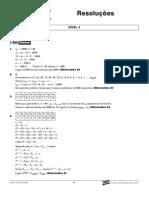 Matemática - Curso Anglo - n3 aulas13a15 Resoluções