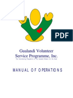 GVSP MANUAL OF OPERATIONS