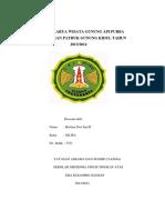 Laporan Karya Wisata Gunung API Purba Nglanggeran Pathuk Gunung Kidul Tahun 2013
