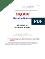 Okidata - ML390, ML391 Series Service Manual