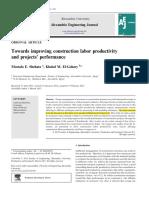 Towards Improving Construction Labor Productivity