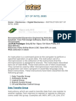 Instruction Set of Intel 8085 Microprocessor