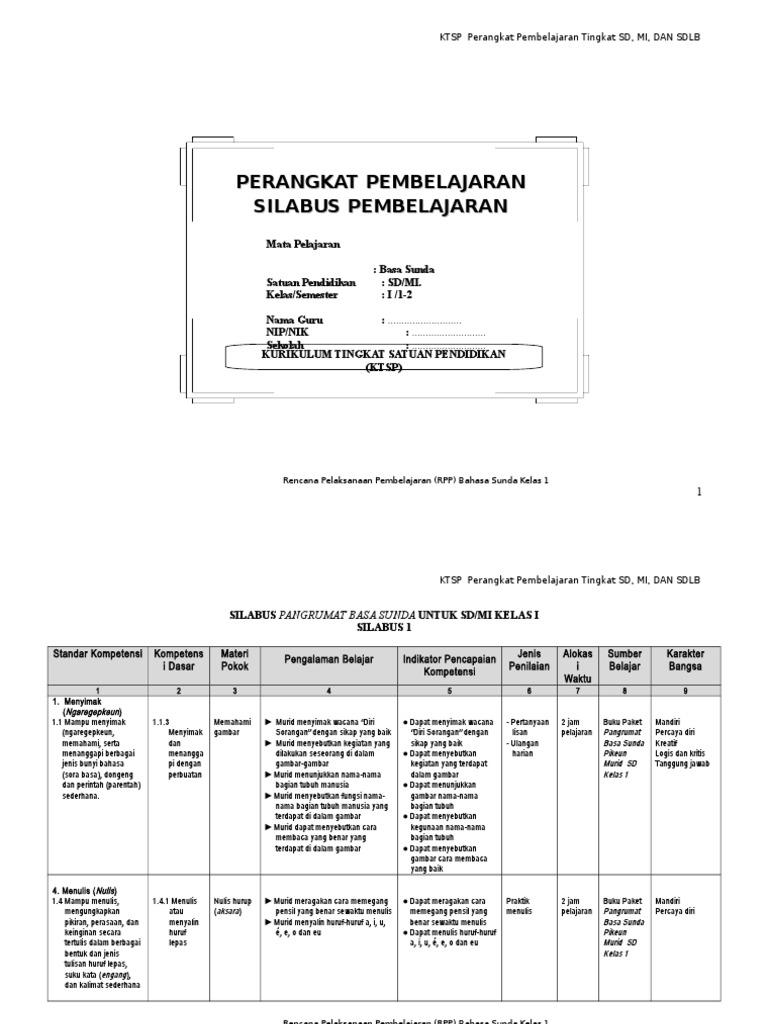Bahasa Sunda Kelas 1 Sd Kurikulum 2013 Ilmusosial Id