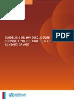 WHO HIV Disclosure Guideline 12