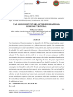 Tax Assignment in Selected Federations- Lessons for Nepal Final