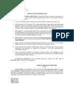 Affidavit of Desistance-Sample