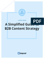 Kapost eBook Simplified Guide to b2b Content Strategy