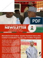 OFFICE OF THE PRESIDENT OF THE SENATE NEWSLETTER, WEEK OF MONDAY, DECEMBER 11TH TO FRIDAY, DECEMBER 15TH
