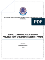 Ec6402 Communication Theory Previous Year University Question Papers