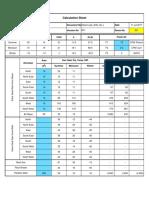 Heat Load Calculation Sheet 1