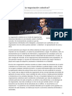 (2011-6) Para Qué Sirve La Negociación Colectiva