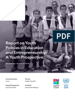 Report on Youth Policies in Education and Entrepreneurship