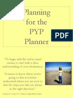 PYP Bubble Planner Presentation