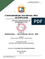 Civil 3d Manual - Una Ing. Civil Arturo Quispe