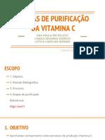 Etapas de Purificação Da Vitamina c