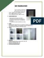 Fichas-consttruccion Vidrio Translucidi y Espejado