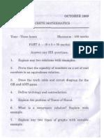 MKU DDE BCA II Old Question Paper
