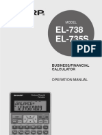 Calculator - Sharp El735s Manual