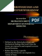 Thyrotoxicosis and Hiperthyroidism