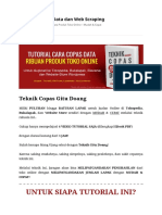 Copas Data Dan Web Scraping