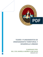 Teoría y Fundamentos de Ordenamiento Territorial y Desarrollo Urbano