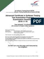 Questionnaire SSTB TAE Practice Exam Ver 2016 2016-11-18