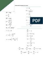 Formulario de Dinamica de Fluidos 2015