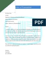JANATA Letter of Transmittal