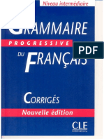 324154948 CORRIGES Grammaire Intermediare
