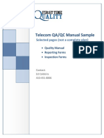 1043 Telecommunications QualityManual Sample