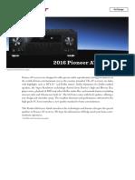 Reference Guide Vsx-Av-receiver 2016