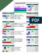 2017-18  - calendar