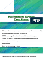 Performance Reviews Lose Steam
