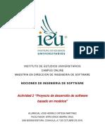 Proyecto de desarrollo de software basado en modelos