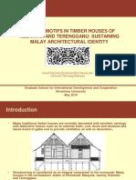 Carving Motifs in Timber Houses of Kelantan and Terengganu
