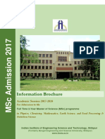 IIEST Brochure MSc2017 18