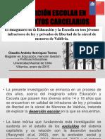 Deserción Escolar en Contextos Carcelarios - Ciep 2015