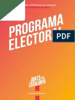 Programa electoral de Junts per Catalunya