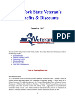 Vet State Benefits & Discounts - NY 2017