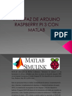 Interfaz de Raspberry Pi Por Matlab