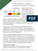 67% Dos Brasileiros Preferem o Semáforo Nutricional Nos Rótulos de Alimentos e Bebidas