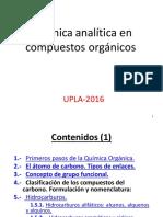 Quimica Analitica en Compuestor Organicos