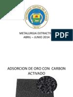 Adsorcion de Oro Con Carbon Activado