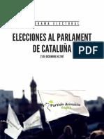 Programa electoral de PACMA
